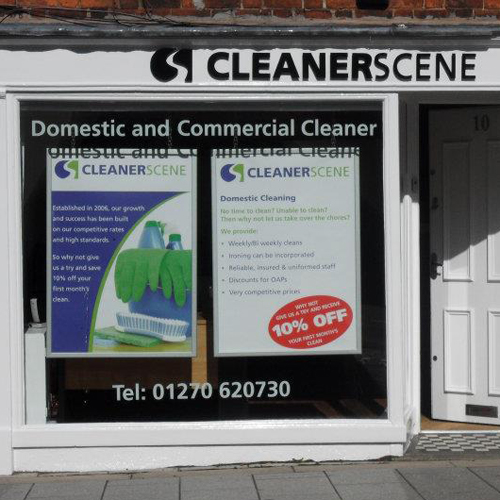 Cleanerscene » Visit us on 10 Welsh Row, Nantwich » Domestic and Commercial Cleaning Services